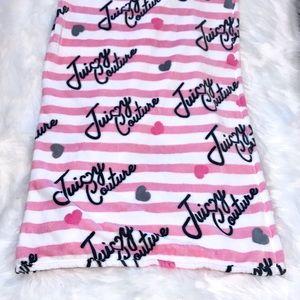 Plush Throw Blanket Pink Stripe